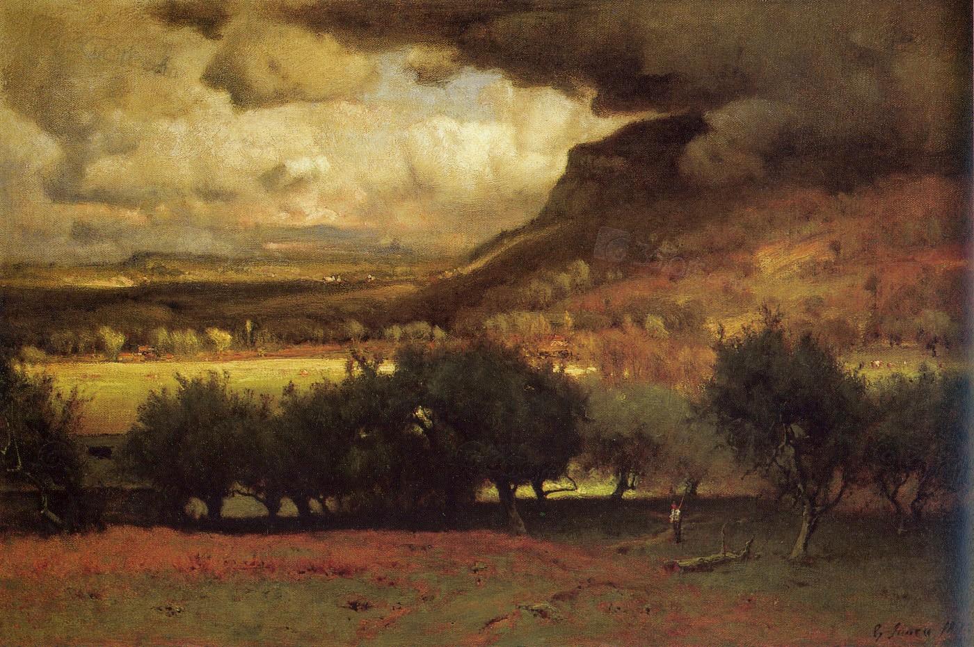 美国画家乔治.英尼斯的风景油画精选
