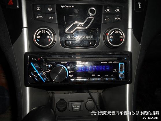 北京现代索纳塔8代原车加装健伍5053cd机