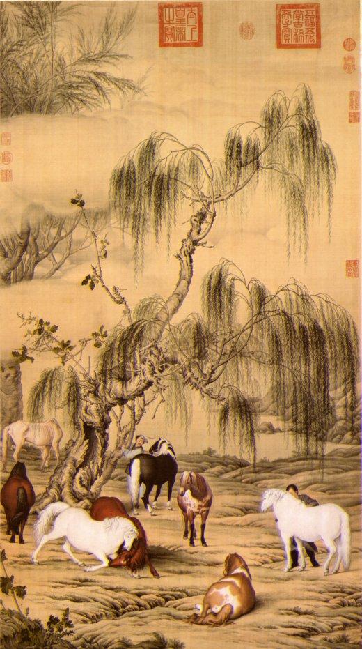 水墨柳树画法步骤