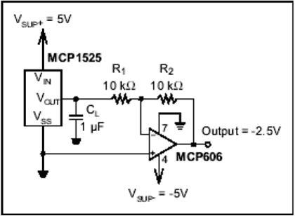 运算放大器大多数都是双电源的,这就要求有正负基准电压,除了从稳压源
