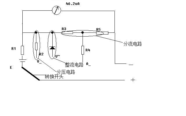 mf47型指针式万用表的结构