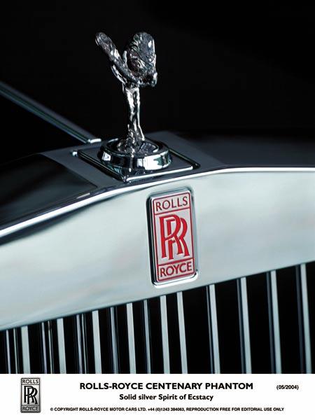 图1 劳斯莱斯女神标志和双R标志-英国历史品牌 Rolls Royce Bentley