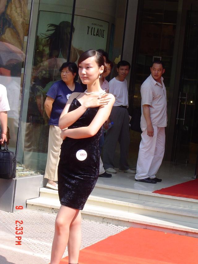 上海南京路的美女