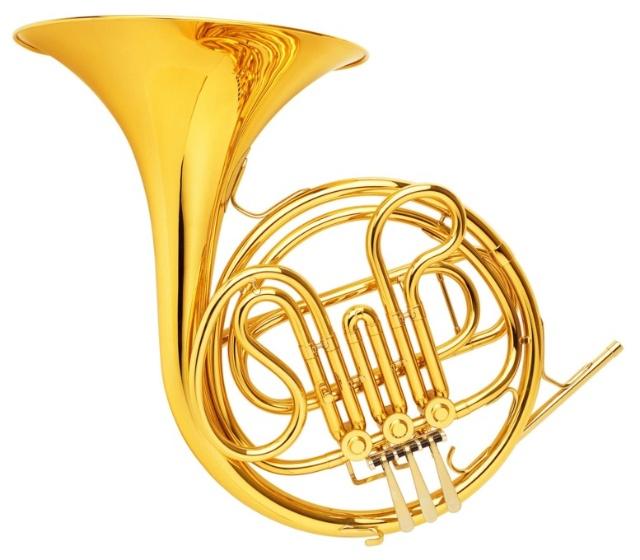 圆号(horn,cor)-又称法国号,铜管乐器,中介性质乐器,软音色.