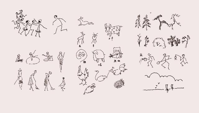 我画的简笔画;;; 小花蛇简笔画大全图片大全下载
