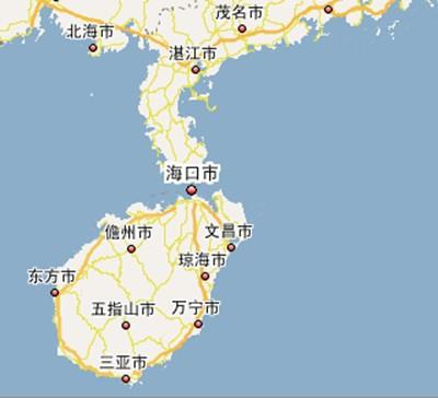 雷州半岛,海南岛地图