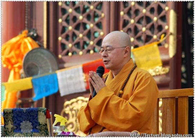 海涛法师应邀到观音寺做了大乘佛教开释