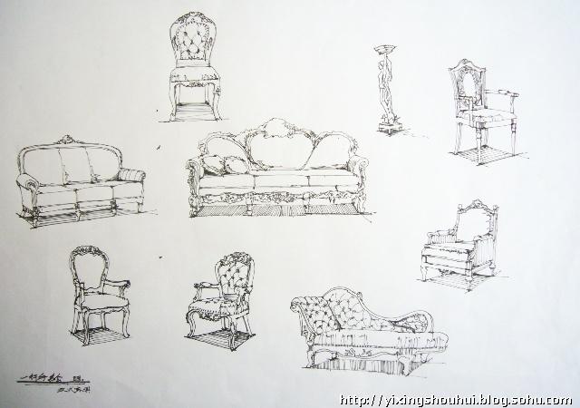 欧式家具手绘(一)