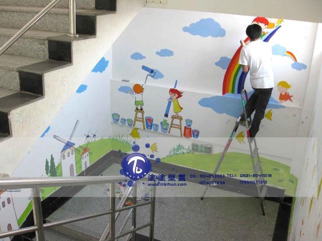 ·义乌市场幼儿园楼梯效果