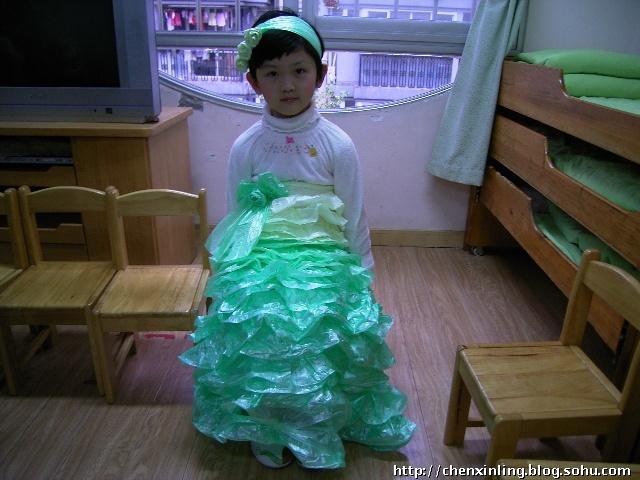 宝宝的环保时装秀