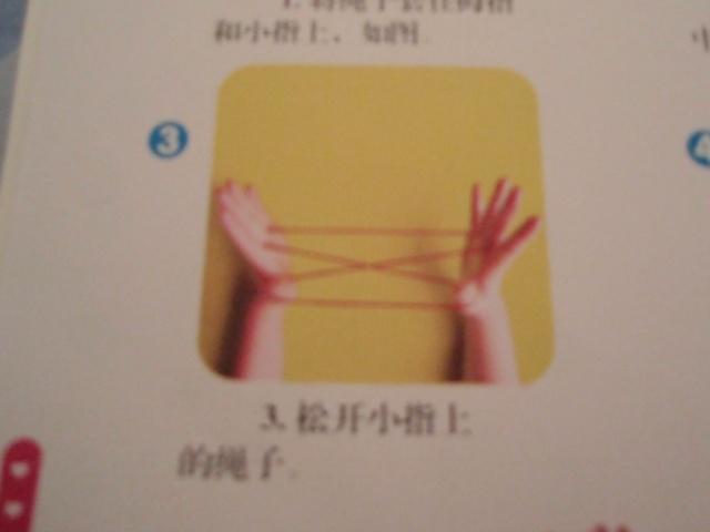 本周我们进行了翻绳游戏,以下是步骤图,请爸爸妈妈也学一学,跟我们的