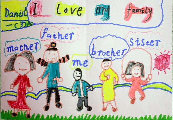 """以""""my family""""为题目写一篇英语作文字数70到80左右图片"""