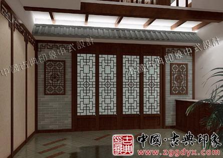 中式木结构厅堂建筑
