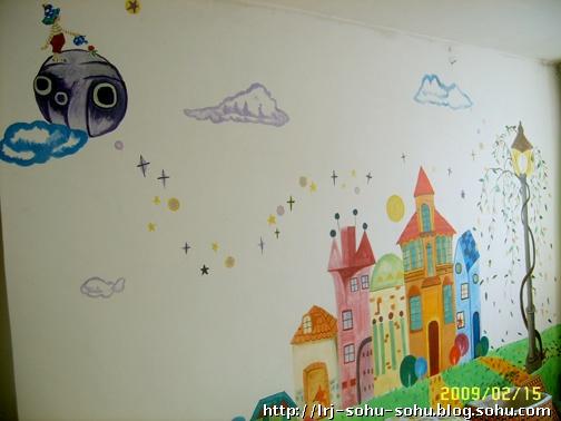 还是手绘墙