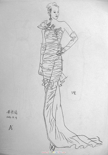 点线面服装手绘设计