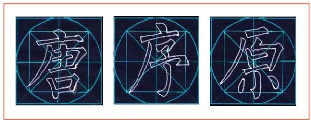 方圆字格 楷书结构三十二法