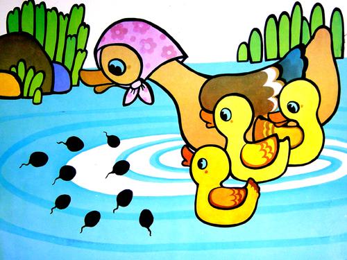 青蛙 蝌蚪卡通图片