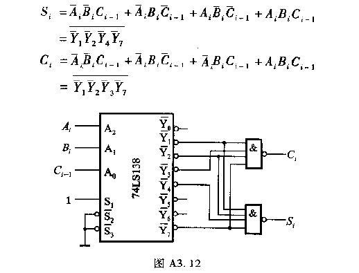 译码器实现组合逻辑函数