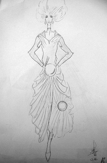 点线面的服装设计图