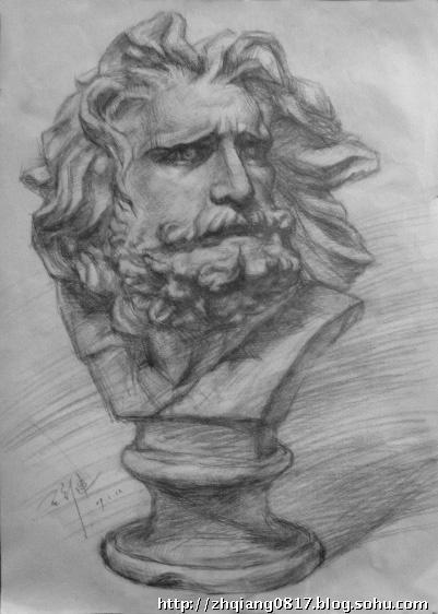 石膏像素描写生—马赛-艺梦画室
