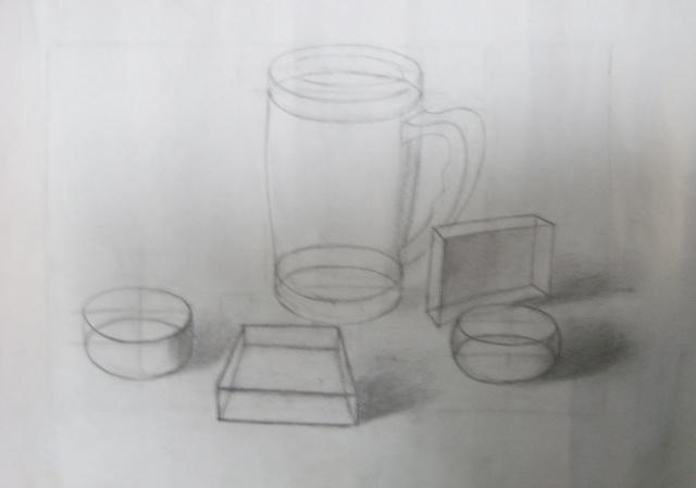 树家(水粉画) 结构素描作业一幅