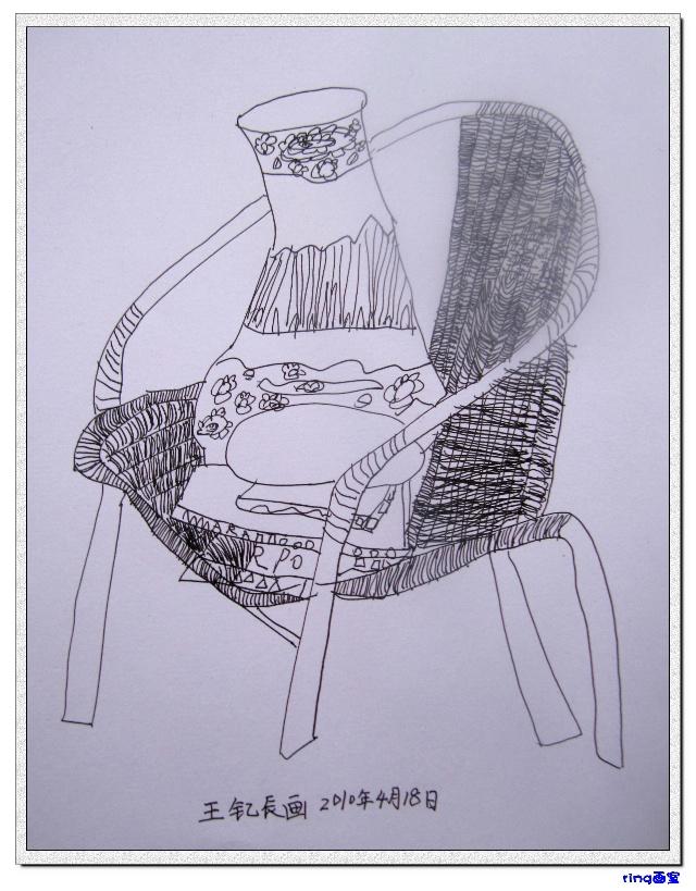 梅广熙初学素描画静物结构