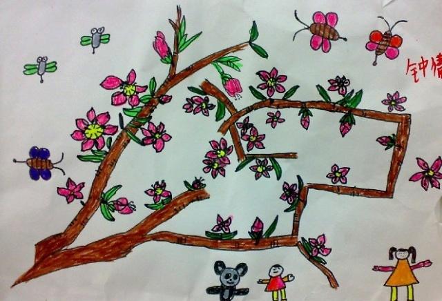 幼儿春天的图画简笔画|美丽的春天图画简笔画|画春天