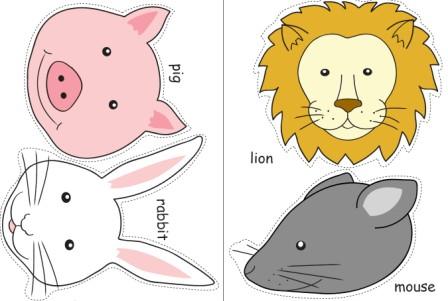 三只小猪 小猪简笔画头饰图_卡通小猪头饰简笔画 简笔画 幼儿园环境图片