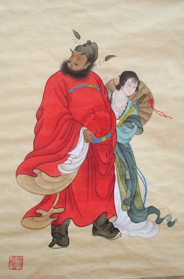 丁红玉的中国工笔画 钟馗嫁妹>-红玉轩[丁红玉的工笔]