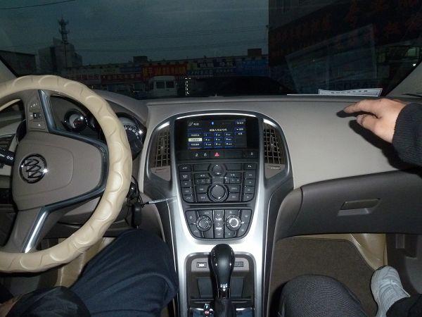 别克英朗安装飞歌专车专用gps导航后的无线蓝牙界面 蓝牙免提 在驾驶