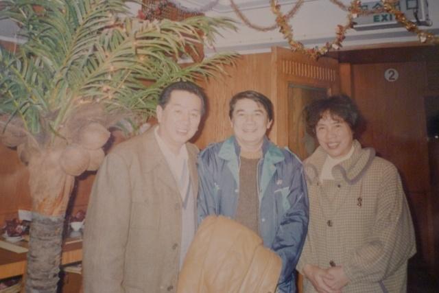 与世界冠军的传奇教练汤仙虎老弟合影