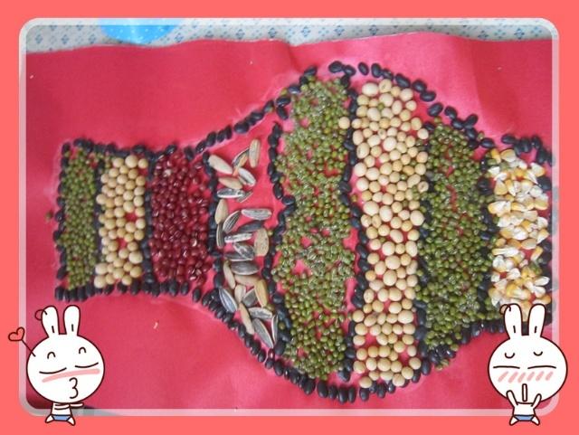 幼儿豆贴画展示-长葛市市直幼儿园-搜狐博客