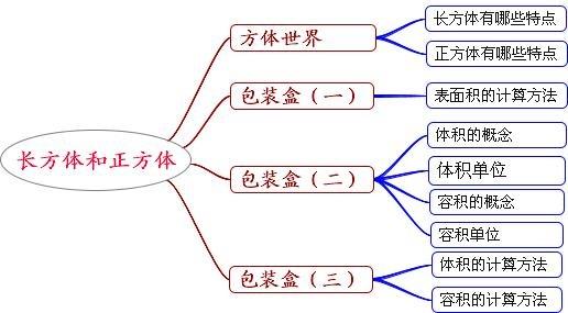 长方体和正方体的知识结构图