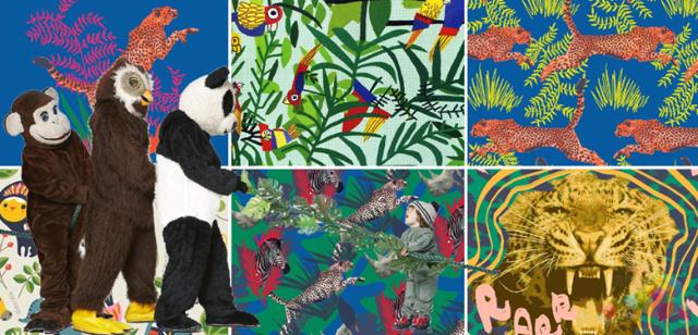新丛林印花,动物斑点变成对称的几何图案,传统的色彩通过巧妙运用