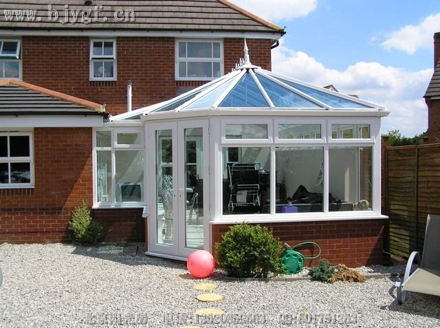 别墅屋顶加建 玻璃棚