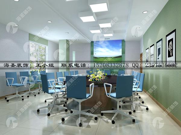 成都办公室装修-办公室高隔断效果图