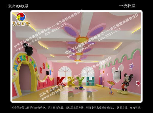 手绘舞蹈教室墙