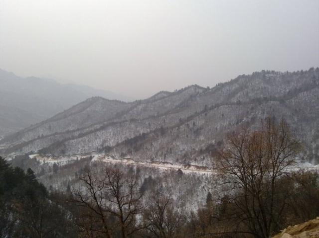 离石冬天风景画