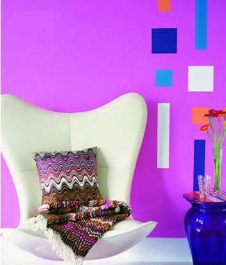 紫色墙面漆装修效果图
