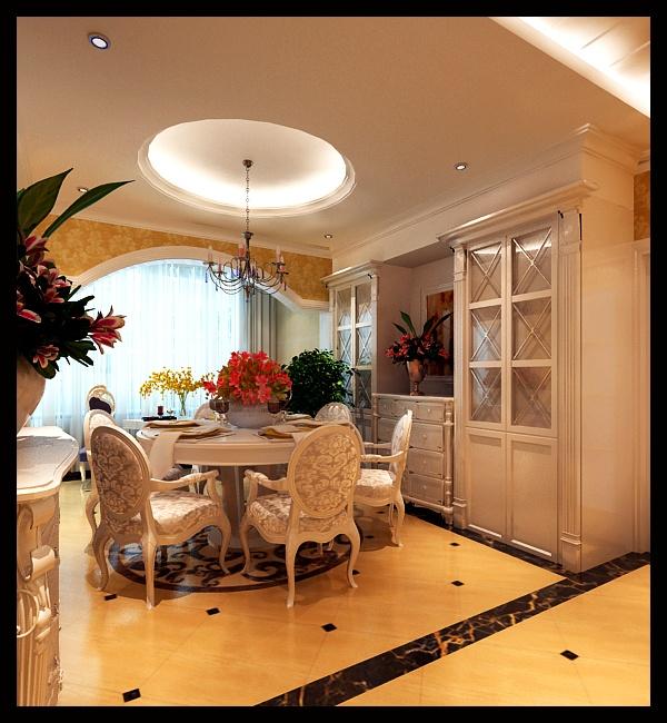 装修效果图; -148平米三居室装修设计;