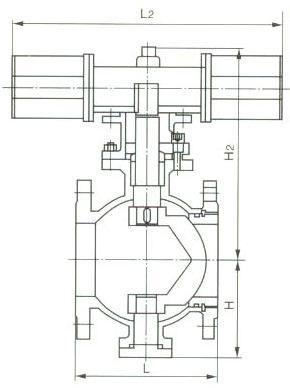 结构特点  v型球阀产品性能特点:固定式结构  v型球阀是一种采用硬