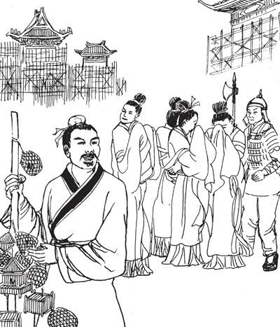故宫手绘图片简笔画