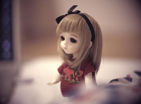 sd娃娃的忧伤 可爱么? 唯美图片