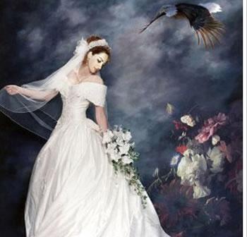 最有创意的婚纱照——手绘婚纱照