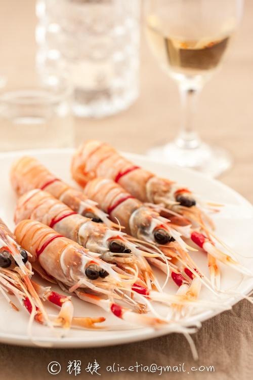 尝鲜 新西兰小龙虾scampi刺身,附剥壳大法