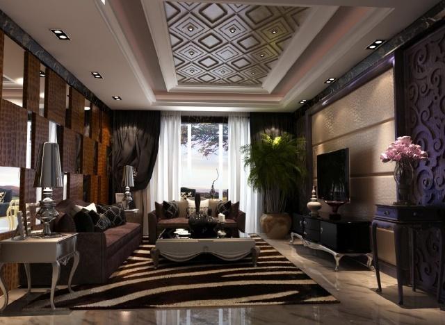 北京实创装饰装修-远洋一方欧式奢华风格装修效果图