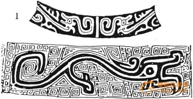 青铜器纹饰中,凡是较粗大的蜿蜒形体躯的动物